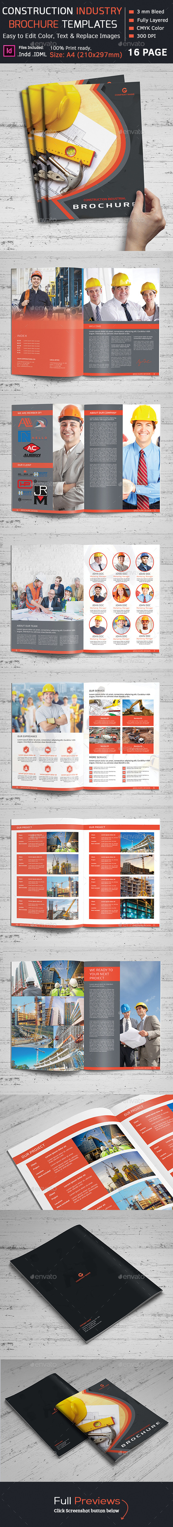Construction Brochure Graphics Designs Templates - Construction brochure templates