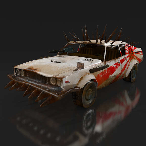 postapo Nissan Skyline 2000 GT-R (1971), LOW POLY - 3DOcean Item for Sale