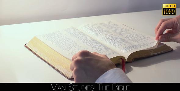 Man Studies The Bible 6
