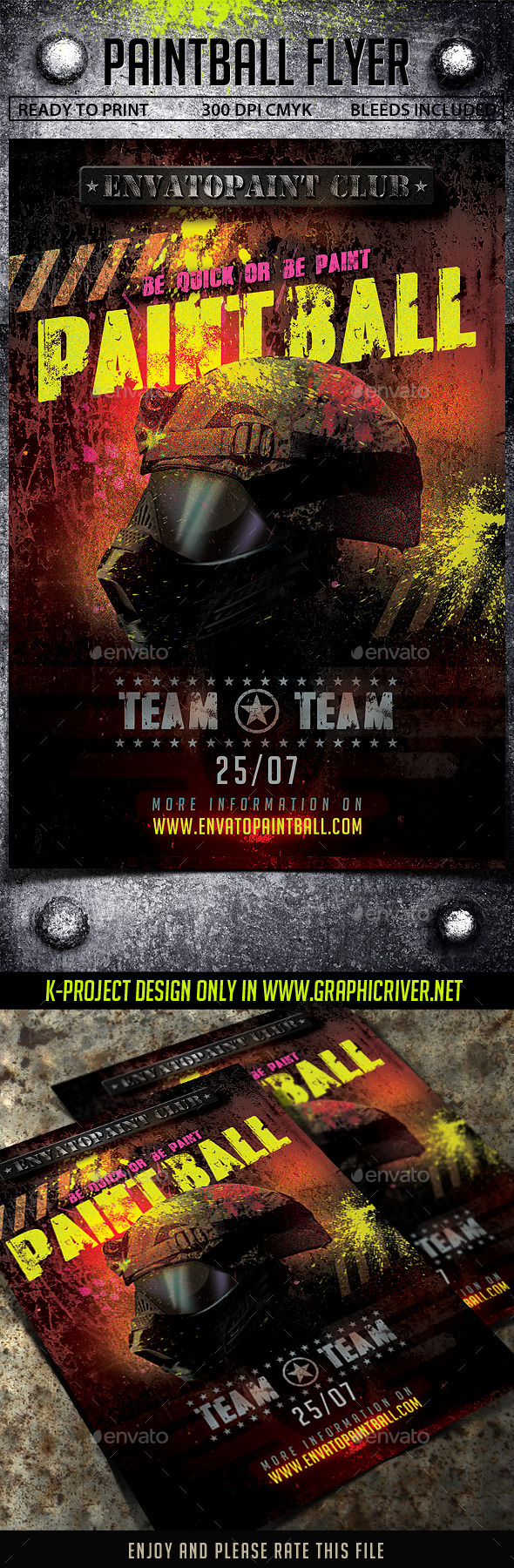 GraphicRiver Paintball Flyer 11385696