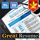Great Resume/CV  - GraphicRiver Item for Sale