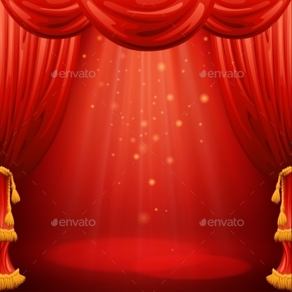 GraphicRiver Red Curtains 11448846