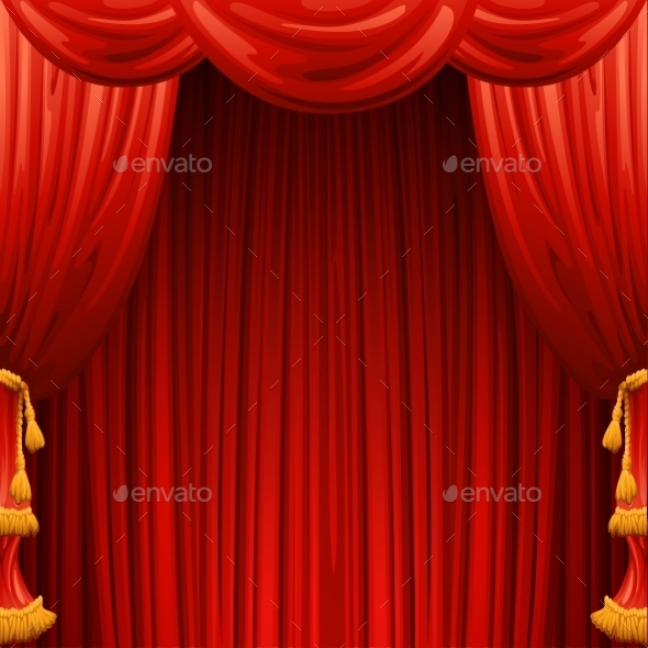 GraphicRiver Red Curtains 11448849