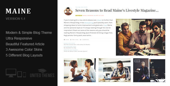 Maine - A Responsive WordPress Blog Theme