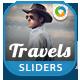 Travel Sliders - 10 Designs - GraphicRiver Item for Sale
