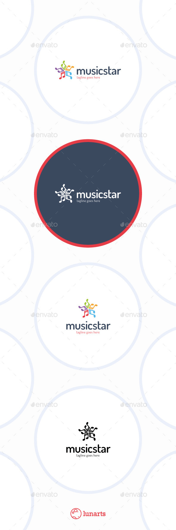 GraphicRiver Music Star Logo 11449009