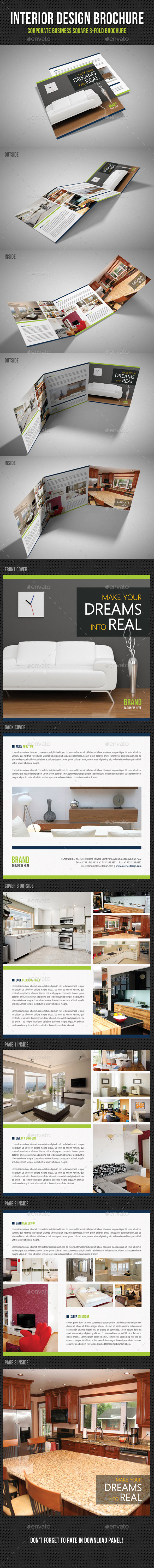GraphicRiver Interior Design Square 3-Fold Brochure V06 11449577