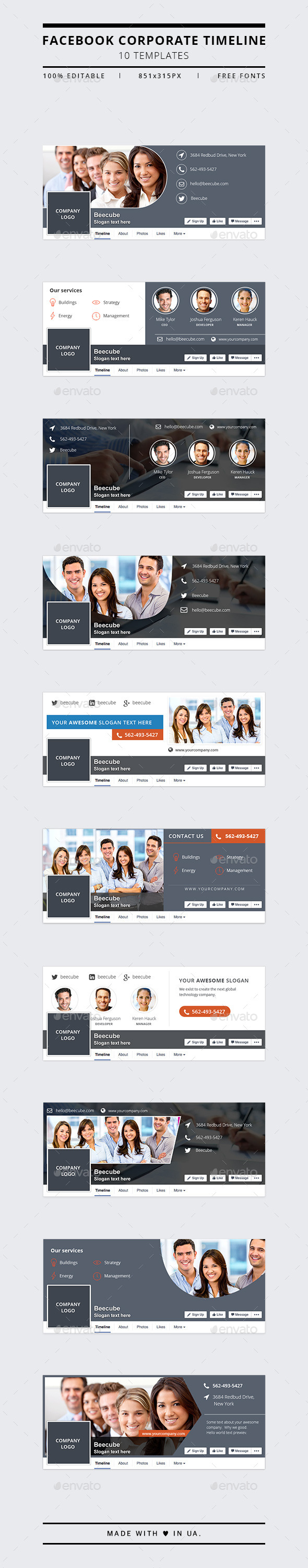 GraphicRiver Corporate Facebook Timeline Covers 11449638