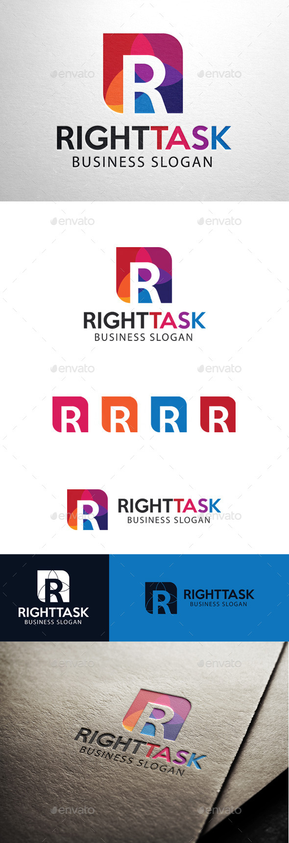 GraphicRiver Right Task Letter R Logo 11449652