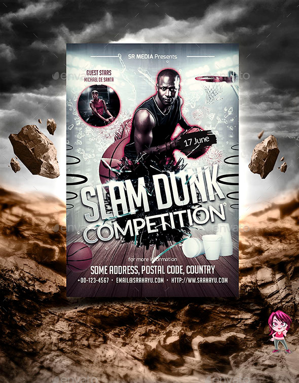 GraphicRiver Slam Dunk Competition Flyer Template 11386483