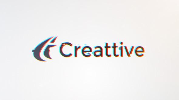 Clean Glitch Logo