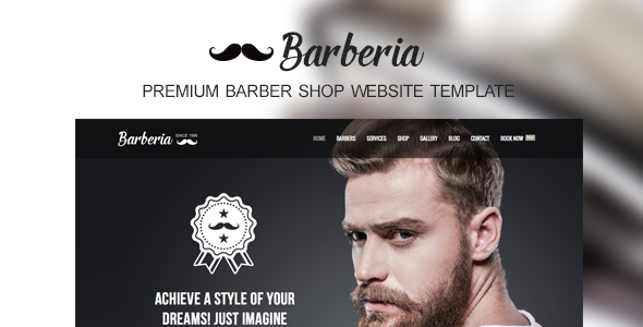 Barberia | Barber Hair Salon Responsive Template (Health & Beauty) Download