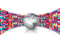 World Flags Background With A Globe.  - PhotoDune Item for Sale