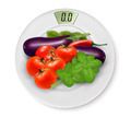 Scale With Vegetables. Concept of Diet.  - PhotoDune Item for Sale