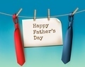 Happy Father's Day Background With A Two Ties.  - PhotoDune Item for Sale