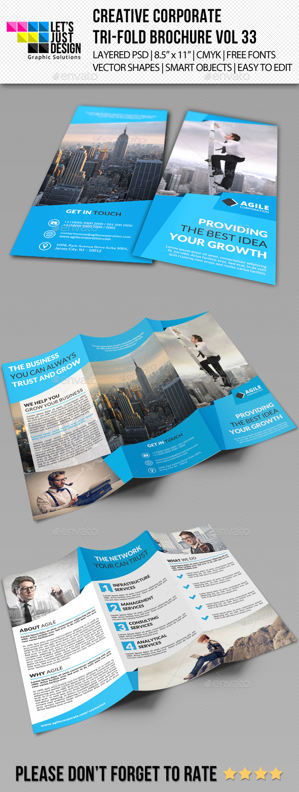 GraphicRiver Creative Corporate Tri-Fold Brochure Vol 33 11450458