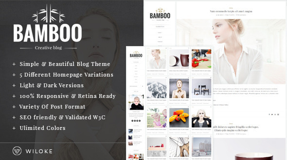 Bamboo - A Simple, Elegant Wordpress Blog Theme