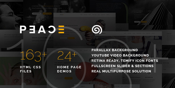 ThemeForest Peace Responsive Multipurpose HTML5 Template v1.1 11305451