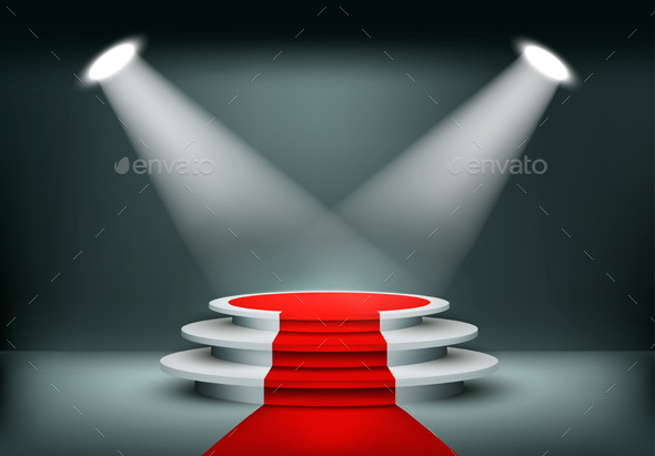 GraphicRiver Showroom Background With A Red Carpet 11450695
