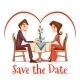 Vector Illustration Of Romantic Date - GraphicRiver Item for Sale