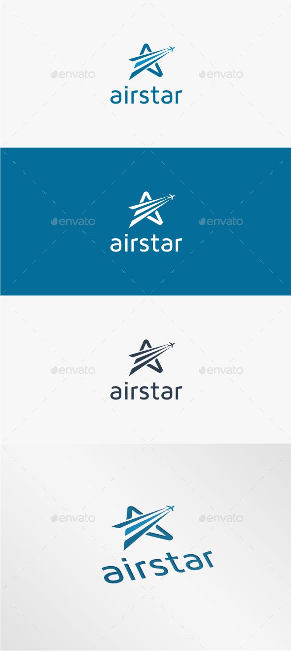 GraphicRiver Air Star Logo Template 11450784