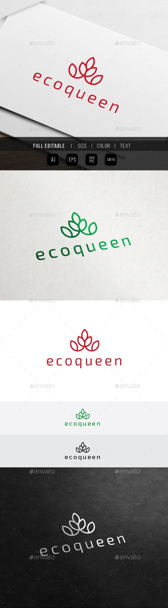 GraphicRiver Eco Crown Hotel Green Spa Resort Logo 11450862