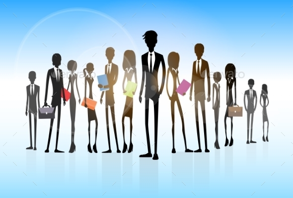 GraphicRiver Business People Group Silhouette Executives Team 11450935
