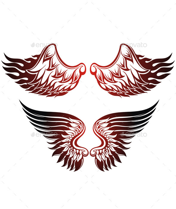 GraphicRiver Wings Set 11451143