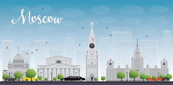 GraphicRiver Moscow City Skyscrapers and Famous Buildings 11451192