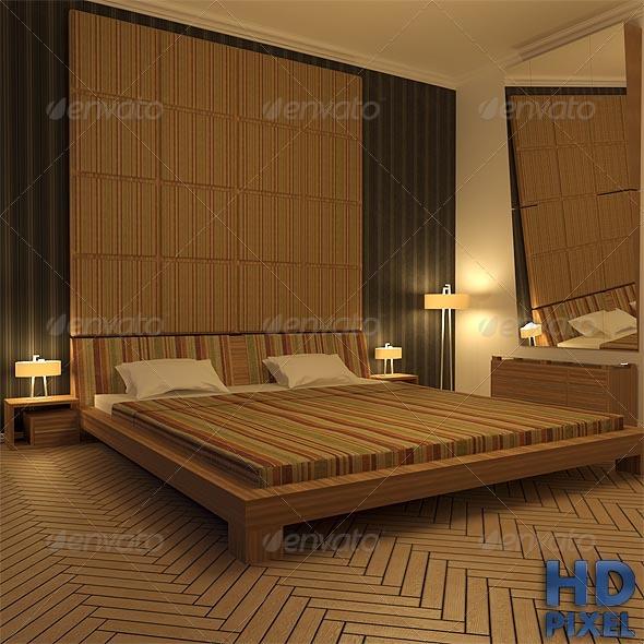 3DOcean Bedroom At Night 141251