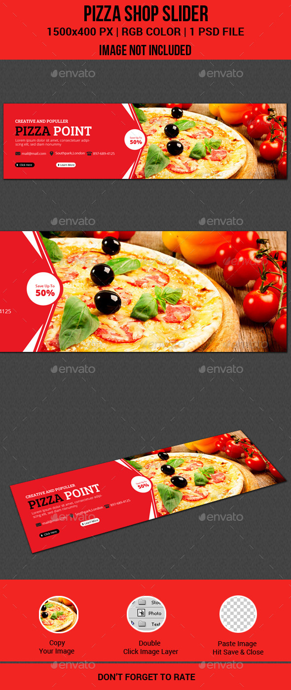 GraphicRiver Pizza Shop Slider 11451259