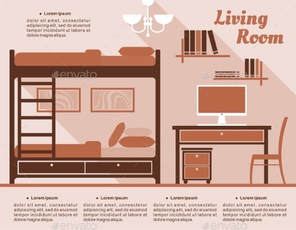 GraphicRiver Living Room Interior Decor Infographic 11451265