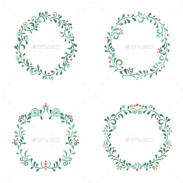 GraphicRiver Set of Floral Frames 11451319