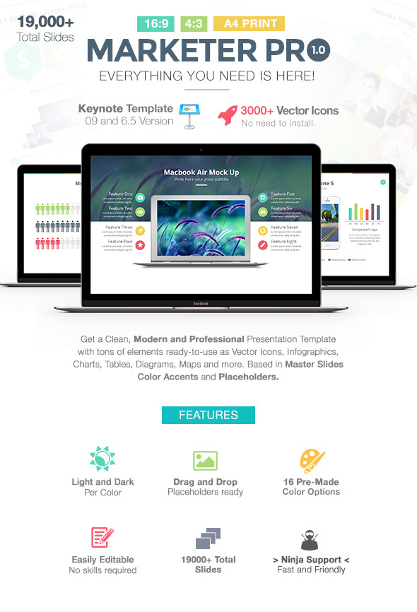 GraphicRiver Marketer Pro Keynote Template 11451353