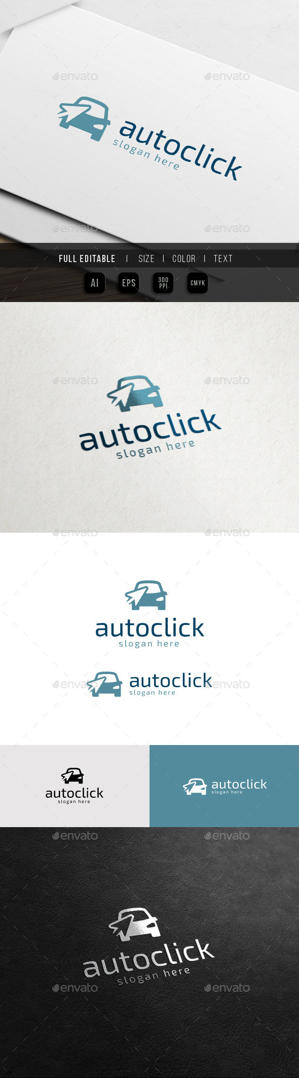 GraphicRiver Auto Click Rent Car Dealer Logo 11451729