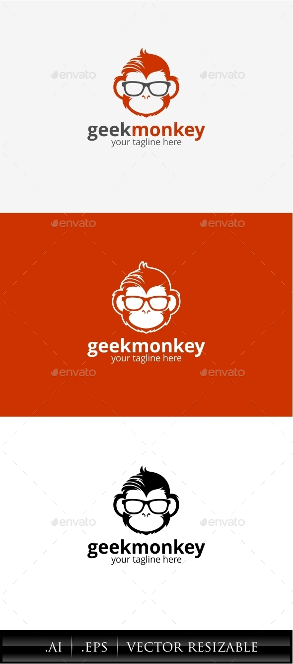 GraphicRiver Geek Monkey Logo 11451817