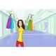 Woman Shopping Bags Modern Luxury Shop Mall - GraphicRiver Item for Sale