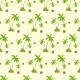 Palm Tree With Coconut Pattern Over Yellow Sand - GraphicRiver Item for Sale
