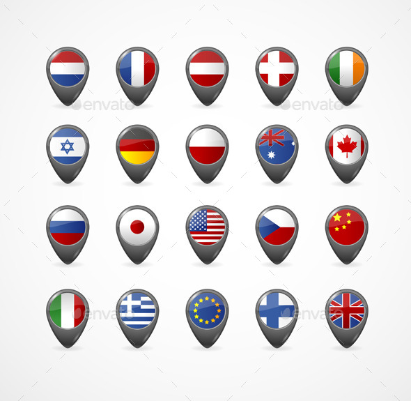 GraphicRiver Gps Pin With Flag For Map Vector Illustration 11452049