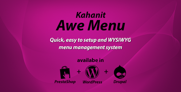 CodeCanyon Kahanit Awe Menu WordPress Mega Menu Plugin 11452058