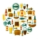 Background Design With Beer Icons And Objects - GraphicRiver Item for Sale