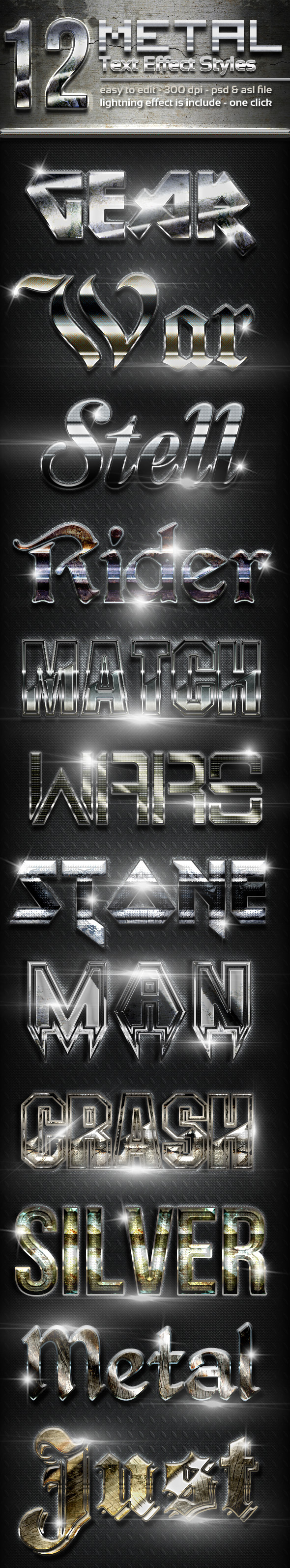 GraphicRiver 12 Metal Text Effect Styles Vol 2 11452083
