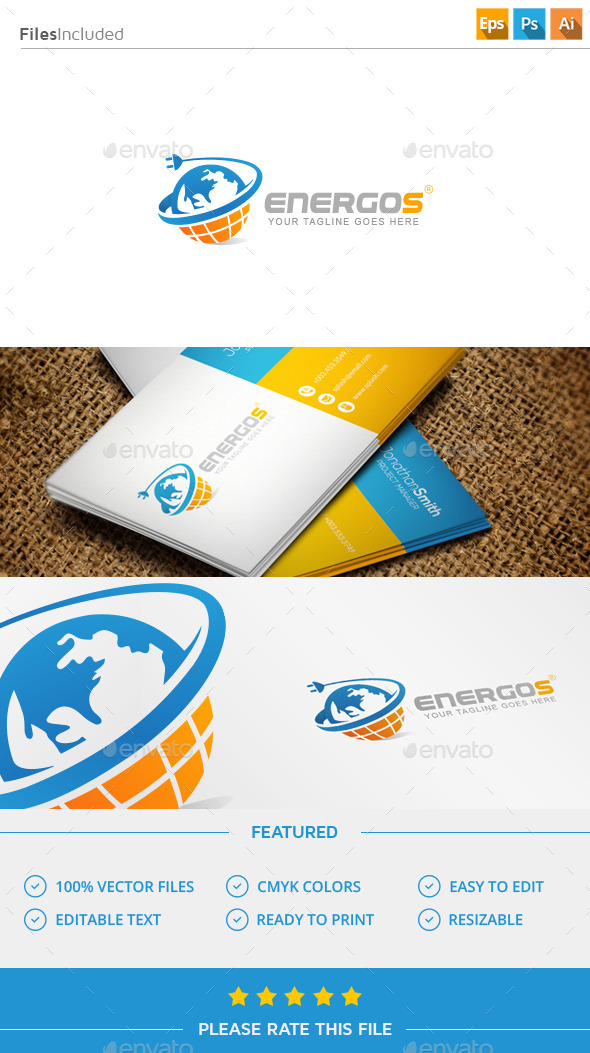 GraphicRiver Energy Planet Logo 11452102