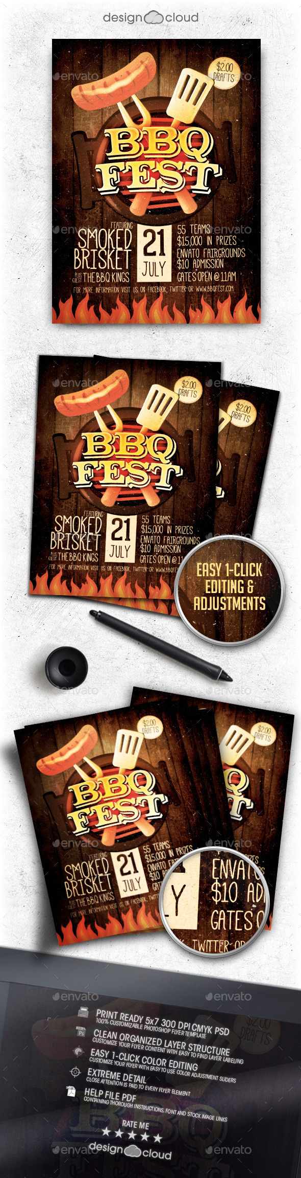 GraphicRiver BBQ Festival Flyer Template Vol 1 11452124
