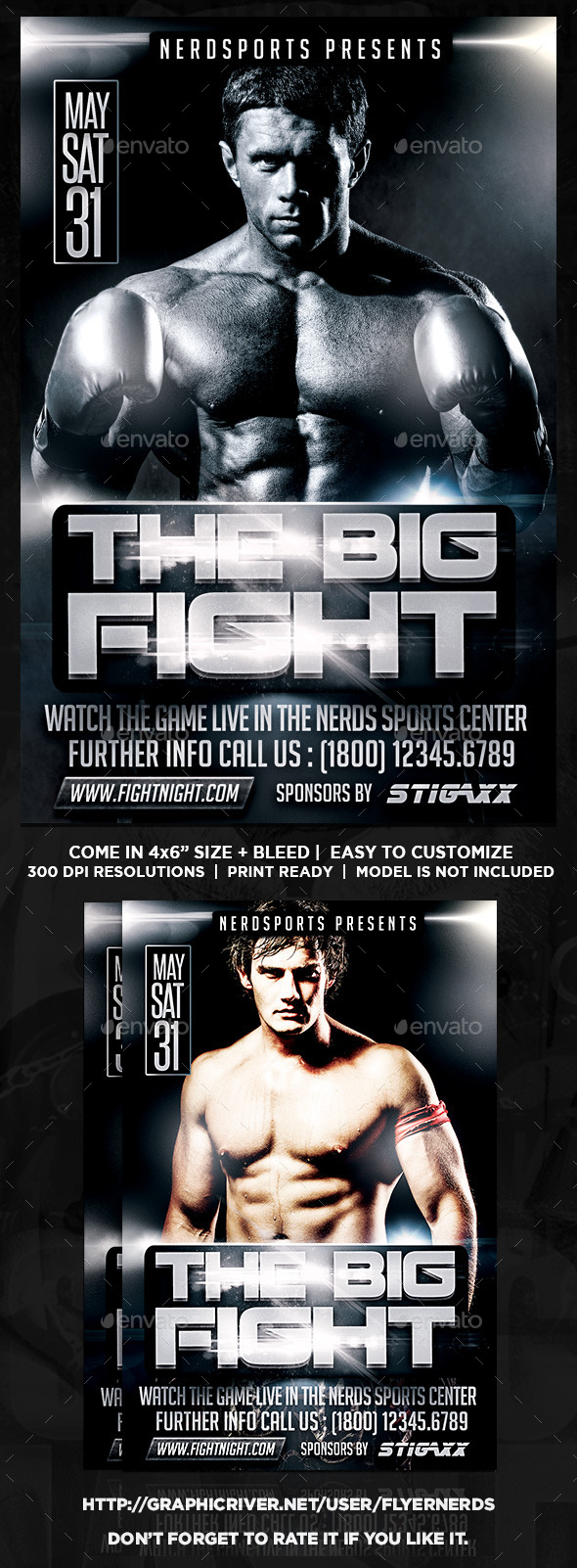 GraphicRiver The Big Fight Sports Flyer 11452196