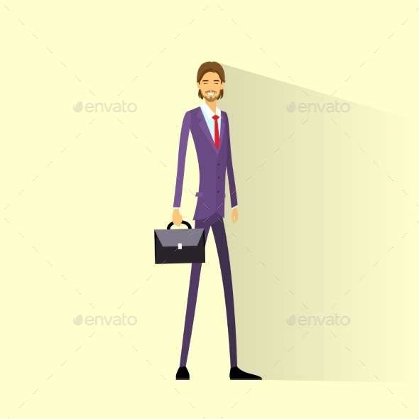 GraphicRiver Businessman Smile Full Length Business Man Flat 11452292