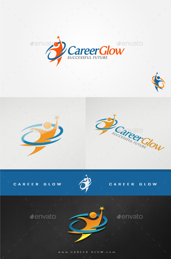 GraphicRiver Career Glow Motivative Logo 11408039
