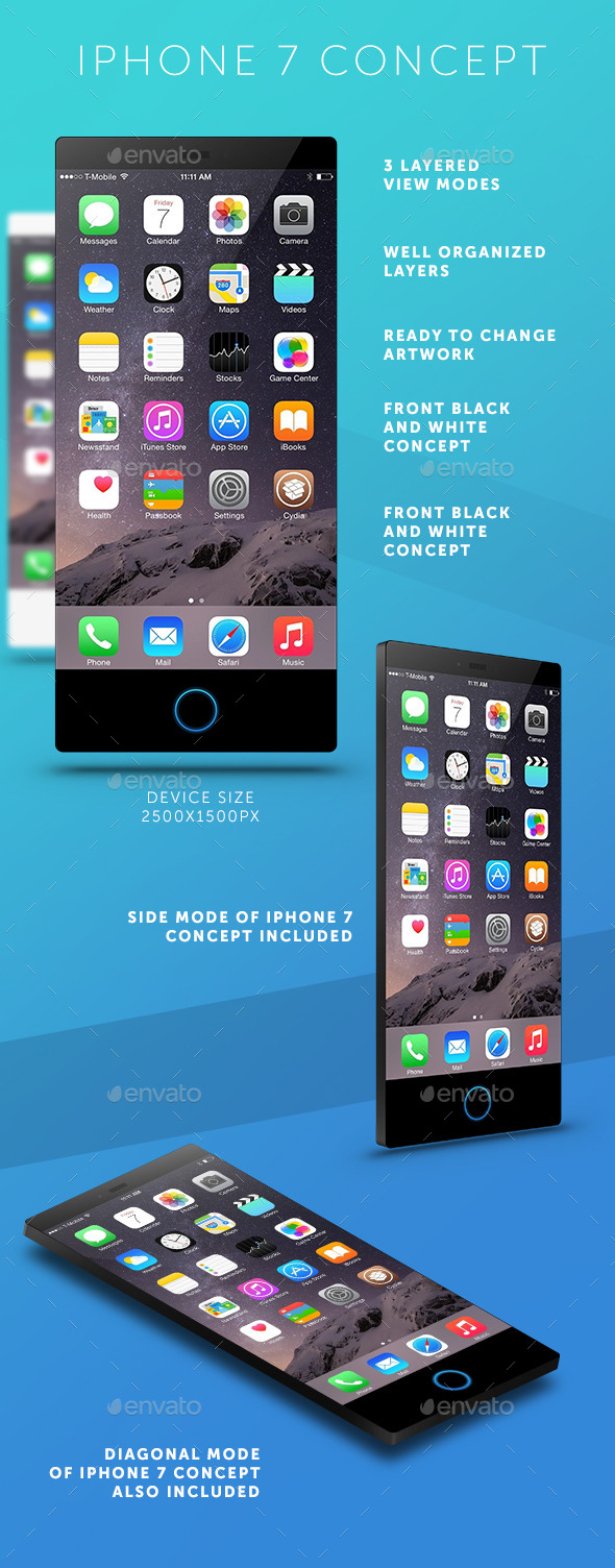 GraphicRiver iPhone 7 Concept Mockup 11445292