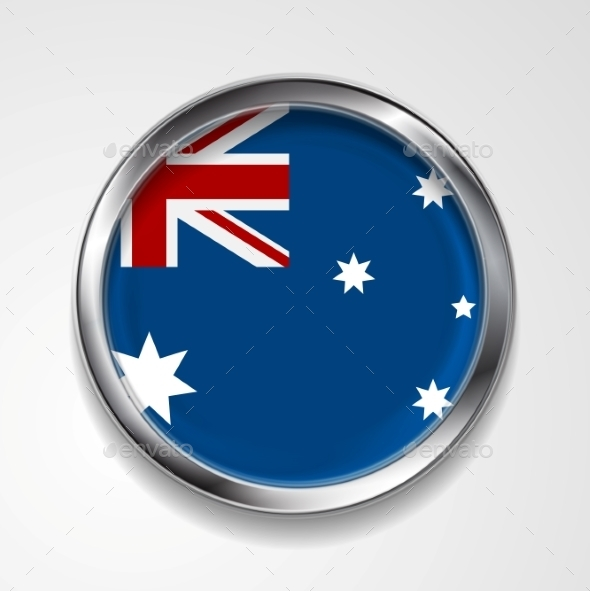 GraphicRiver Abstract Button With Metallic Frame Australian 11452394
