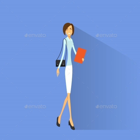 GraphicRiver Businesswoman Smile Full Length Business Woman 11452407